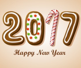 2017 text chocolate styles design vector