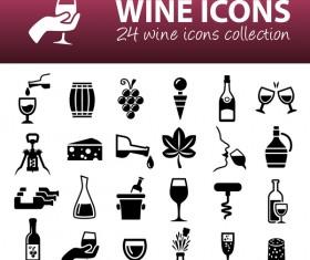24 kind wine icons