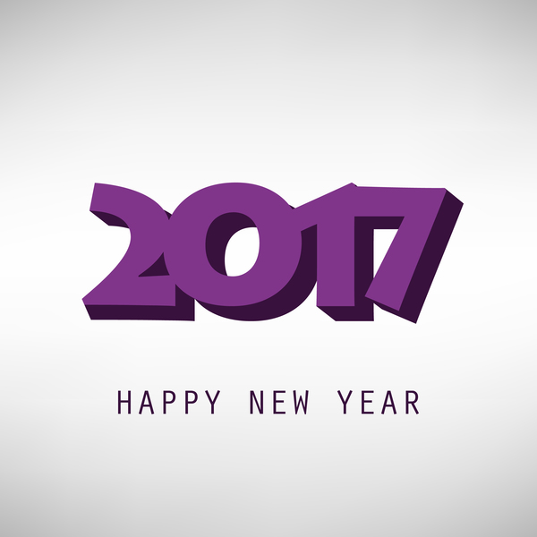 ... EPS file 3D purple 2017 new year text with background vector download