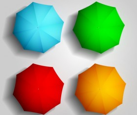 4 Kind colored umbrellas vector
