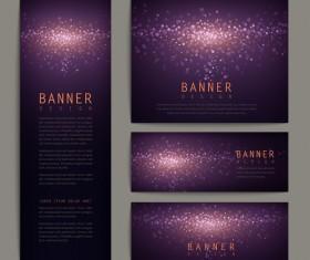 Abstract brochure banner purple vector