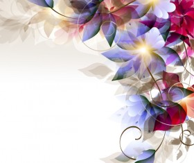 Abstract floral foliage vector background 01