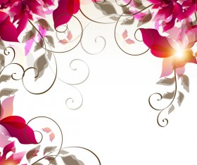 Abstract floral foliage vector background 02