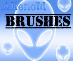 Alien faces photoshop brushes