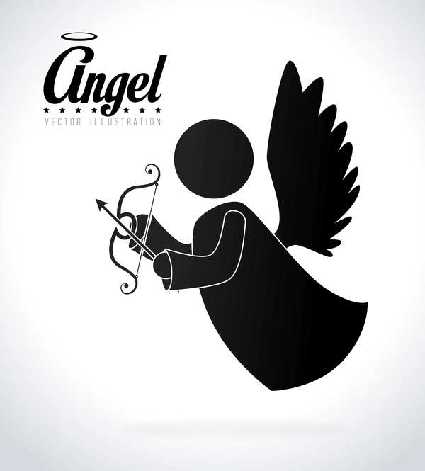 Angel illustration design vector 01