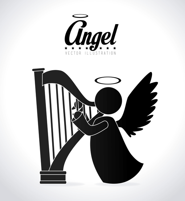 Angel illustration design vector 03