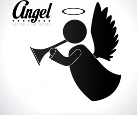 Angel illustration design vector 04
