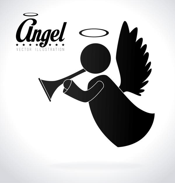 Angel illustration design vector 04