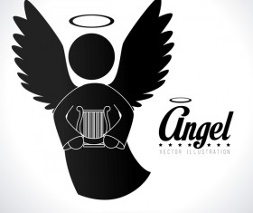 Angel illustration design vector 05