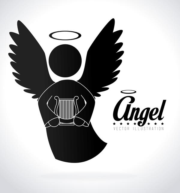 Angel illustration design vector 05