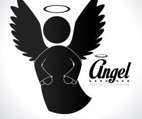 Angel illustration design vector 06