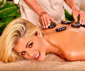 Back magnet massage Stock Photo