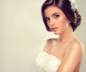 Beautiful bride hairstyle Stock Photo