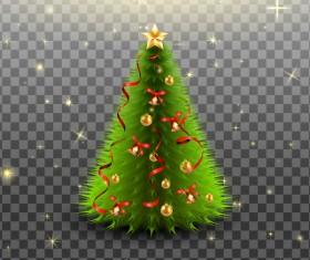 Beautiful christmas tree illustration vector 01