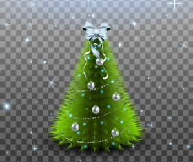 Beautiful christmas tree illustration vector 03