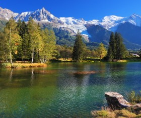 Beautiful lakes and mountains Stock Photo