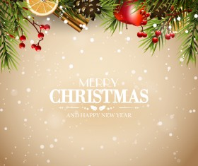 New year vector for free download beige christmas with new year traditional greeting card vector 02 m4hsunfo