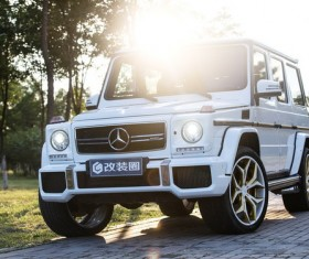 Benz G63 off-road vehicles Stock Photo