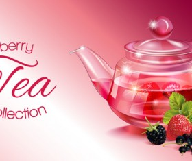 Berry tea vector