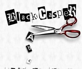 Black casper font