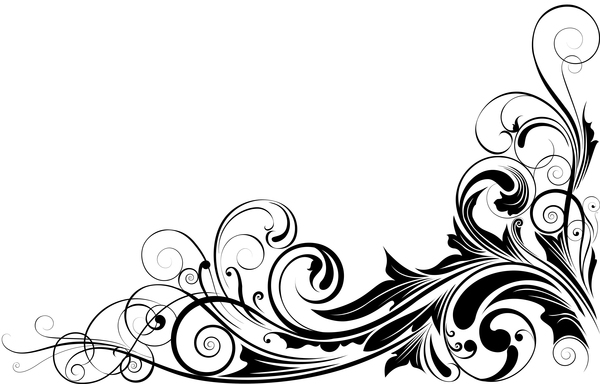 black floral corner ornaments vector free download black floral corner ornaments vector