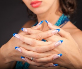 Blue nail Stock Photo