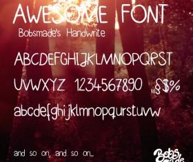 Bobsmade handwrite font