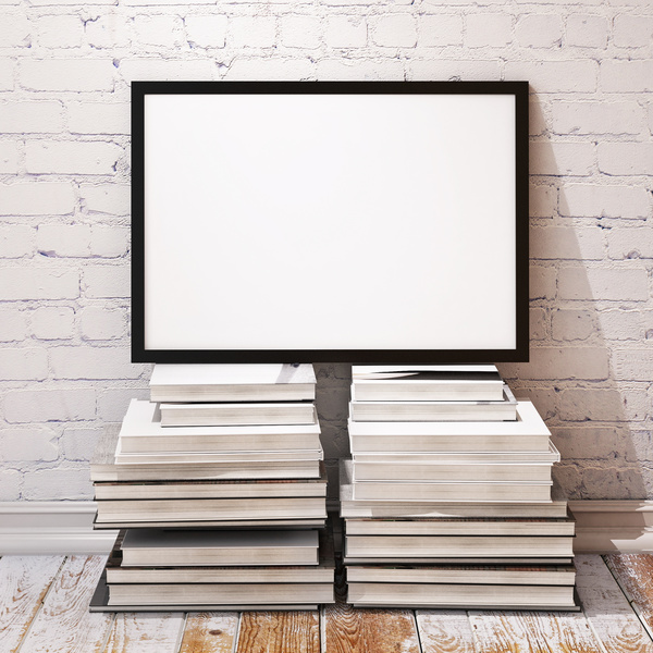 Book with white frame Stock Photo free download