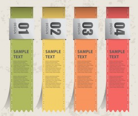 Bookmarks banners with numbers vector