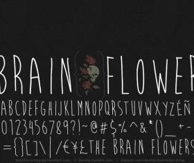 Brain flower font