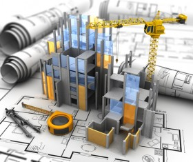 Building models and drawings HD picture