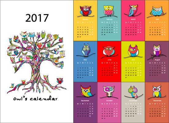Calendar Cover Design 2014 : Calendar cartoon styles vector material
