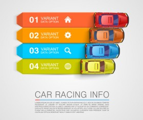 Car racing infographic vector set 01