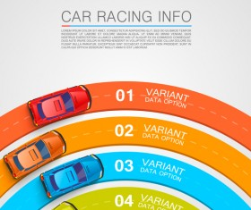 Car racing infographic vector set 05
