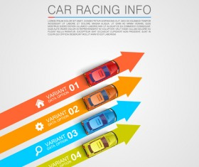 Car racing infographic vector set 08
