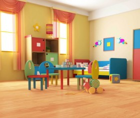 Children's room decoration Stock Photo