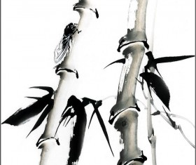 Chinese ink and wash freehand bamboo HD picture