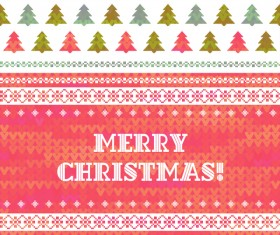 Christmas and New Year card with seamless borders vector 06 - Vector ...