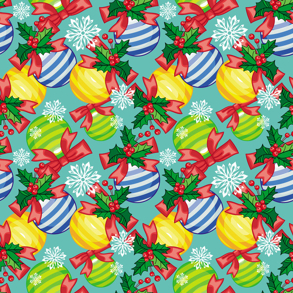 Christmas ball seamless pattern design vector