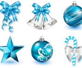 Christmas decor icons set