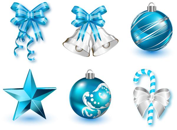 Christmas decor icons set