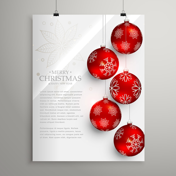 Christmas Flyer.Christmas Flyer And Cover Brochure Design Vector 06 Free