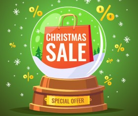 Christmas special offer sale poster vector