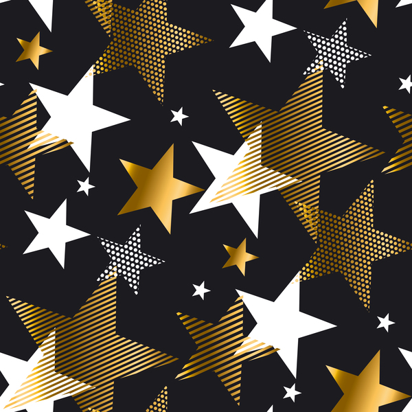 Christmas stars seamless pattern vectors 02