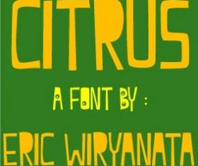 Citrus font