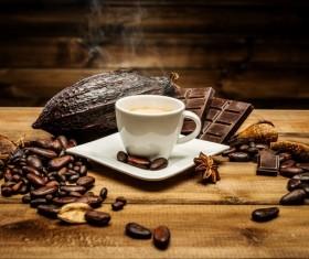 Coffee Bean Cocoa Chocolate Stock Photo