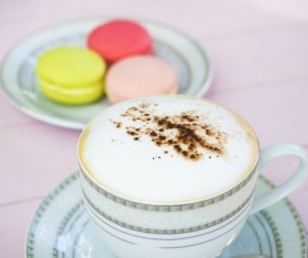 Coffee and Macaron Stock Photo
