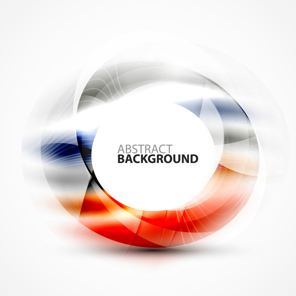 Colorful circle with abstarct background art vector 04
