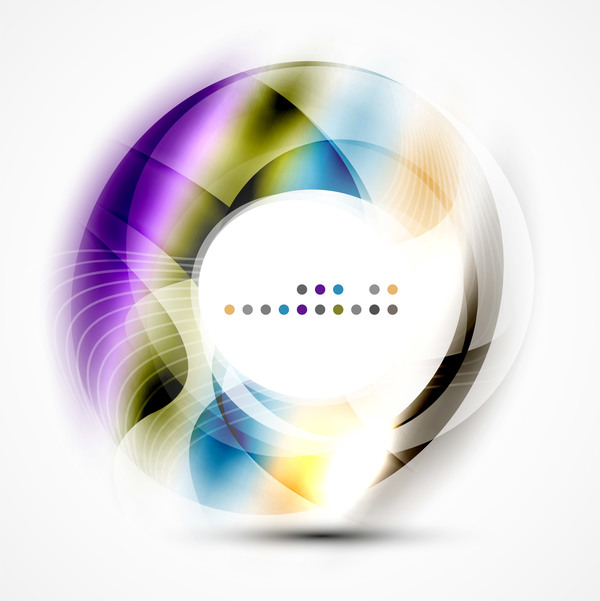 Colorful circle with abstarct background art vector 06