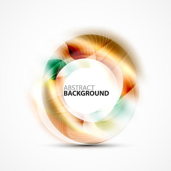Colorful circle with abstarct background art vector 09